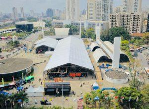 Vista aérea do evento (Fernando Siqueira / FS Fotografia)