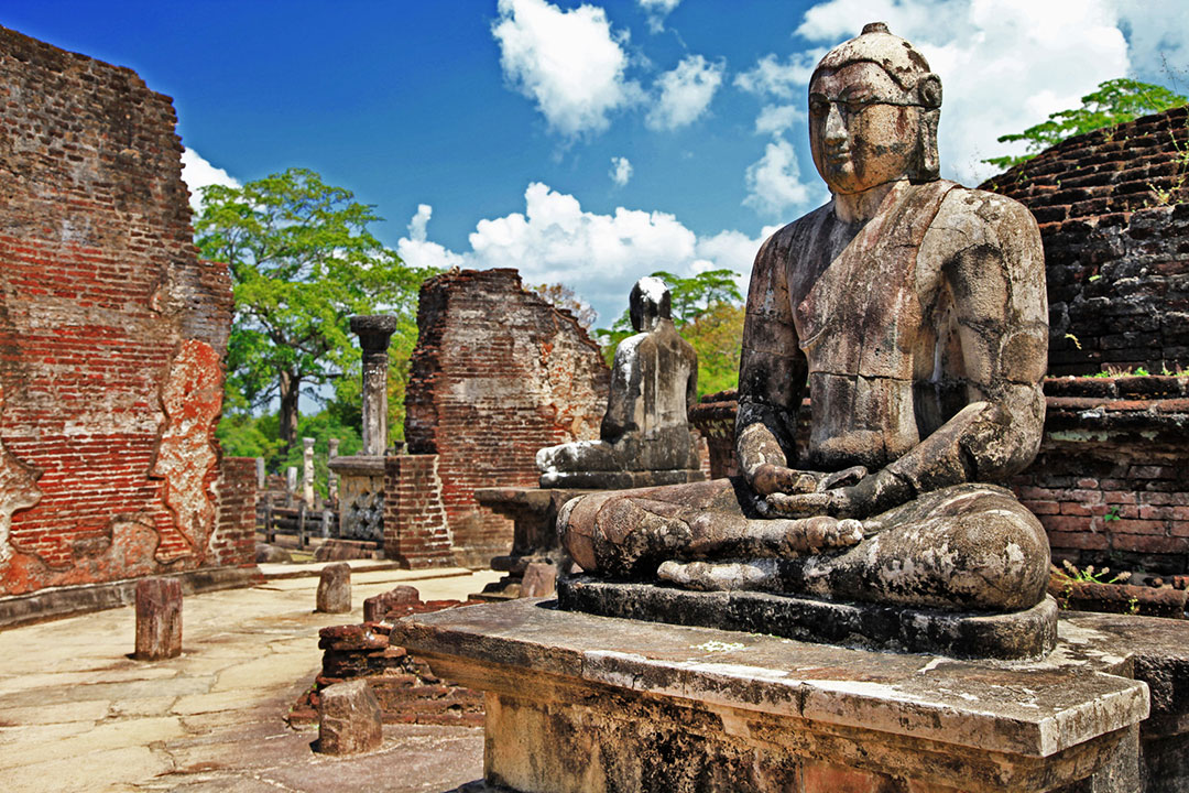 Buddha in Polonnaruwa temple – medieval capital of Ceylon,UNESCO
