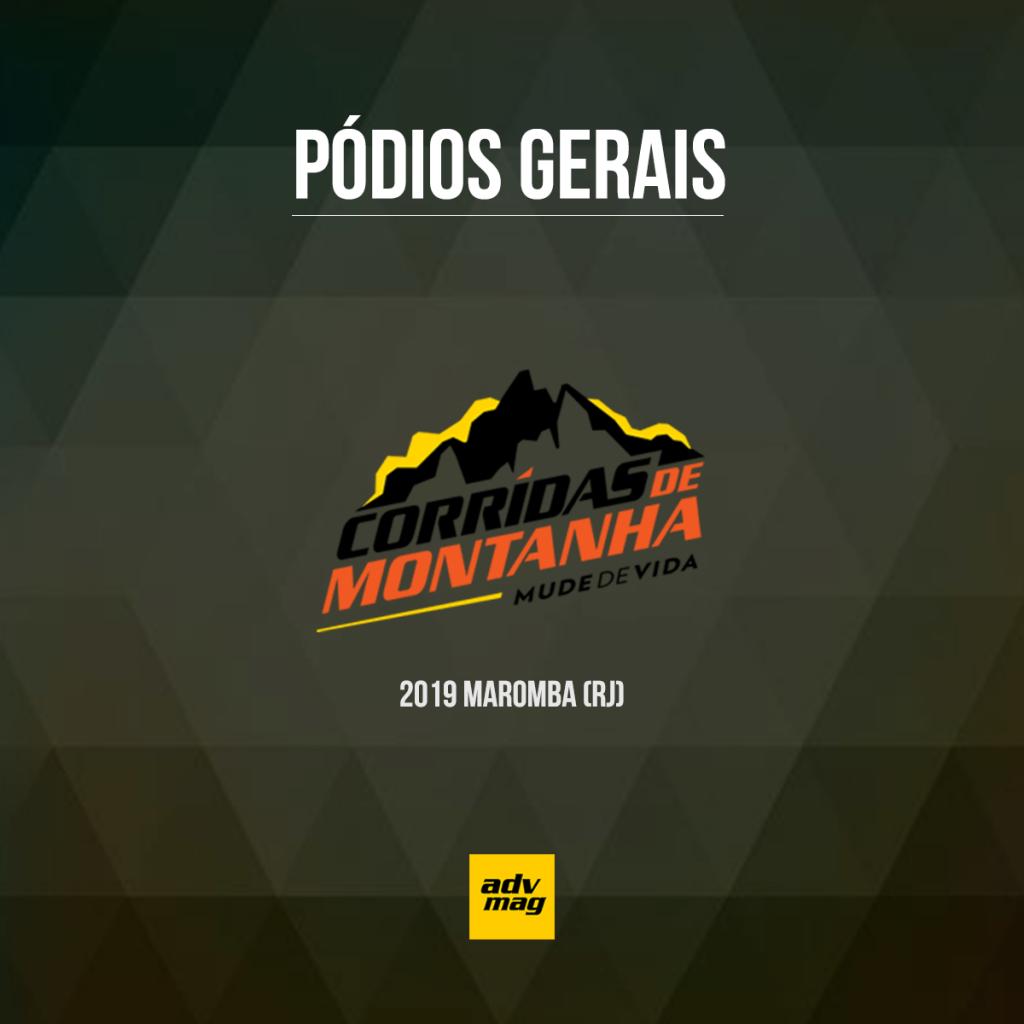 Pódios gerais da Corridas de Montanha Maromba 2019